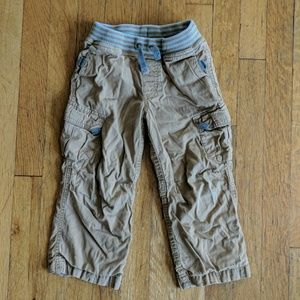 Hanna Andersson Cozy lined cargo pants, size 100